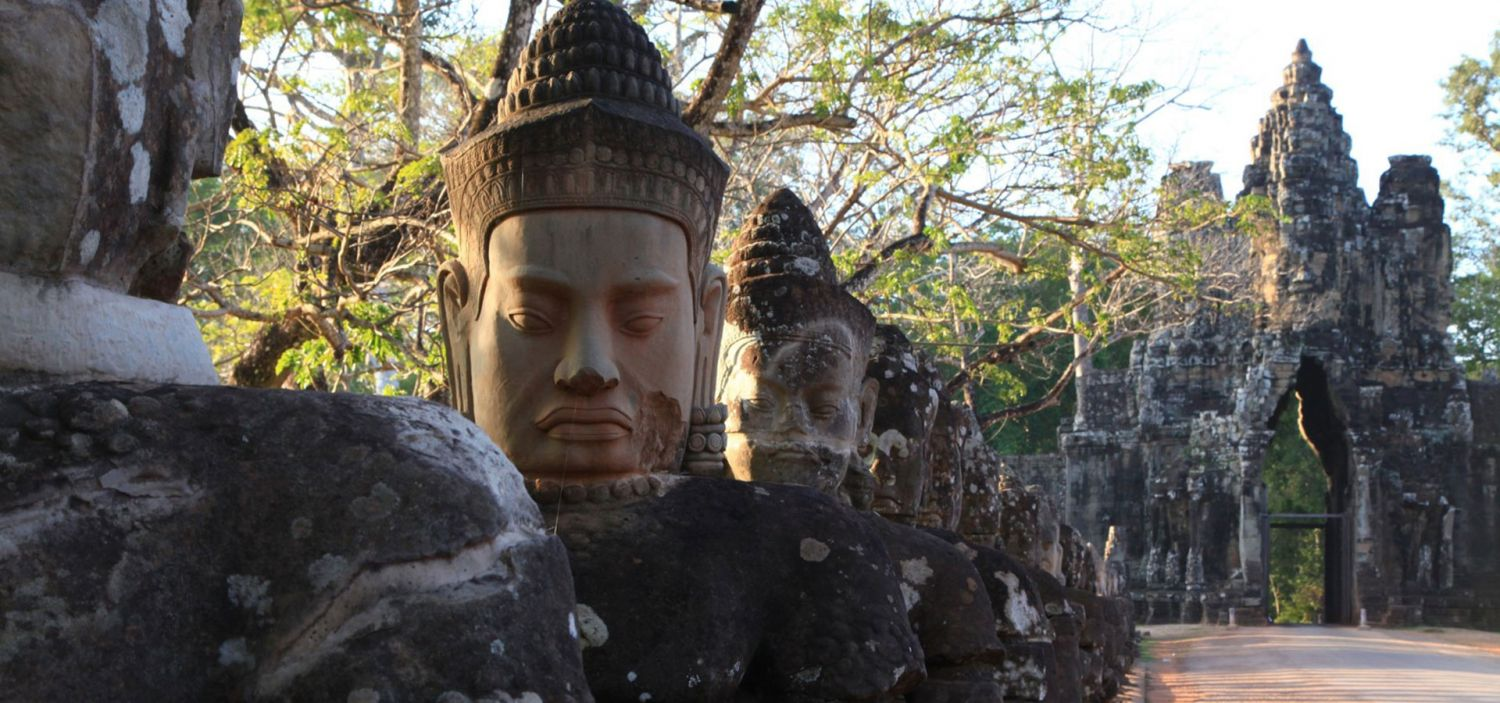 Restoration of Angkor site