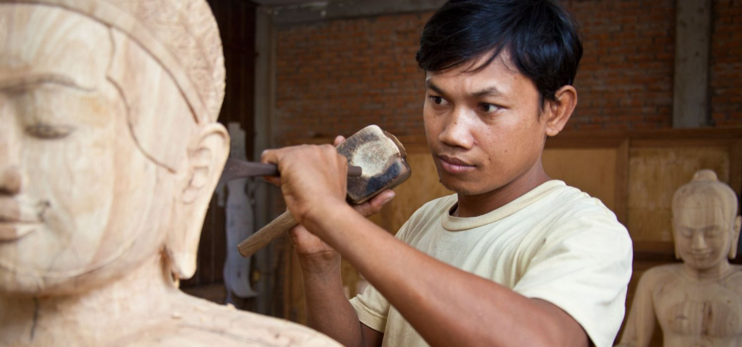 The process of Stone carving
