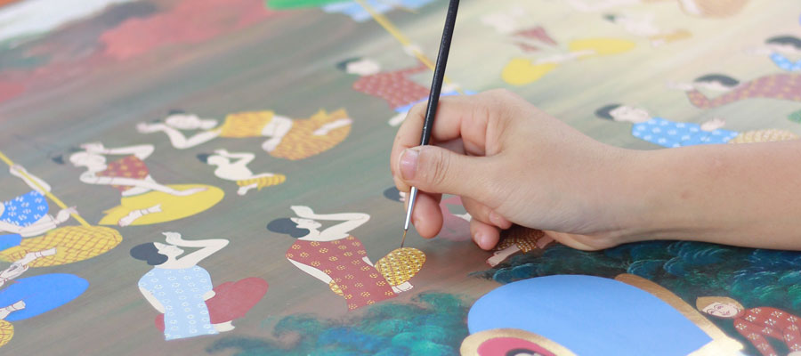 painting over silk paint