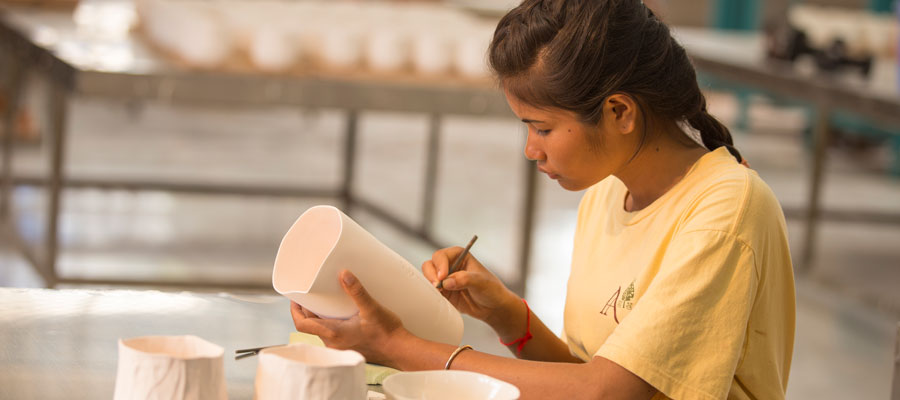 Ceramics trainees - Logbook