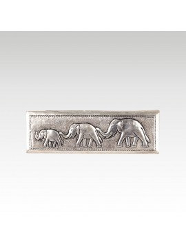 BRONZE BOX THREE ELEPHANT