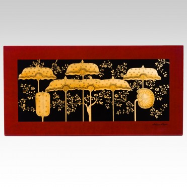 PANEL OF SIX UMBRELLAS
