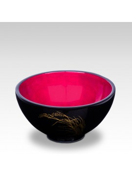 LACQUER BOWL PADDY RICE PURPLE