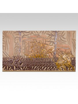 Bas-relief of military scene