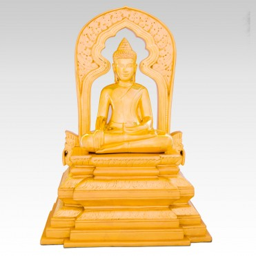 Golden Buddha on his Throne