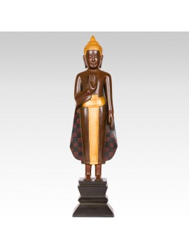 STANDING BUDDHA ONE HAND ON CHEST