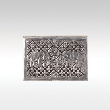 Silver plated name card holder