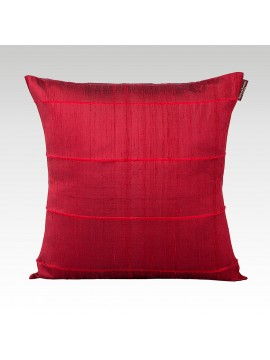SLITED RAW SILK CUSHION COVER